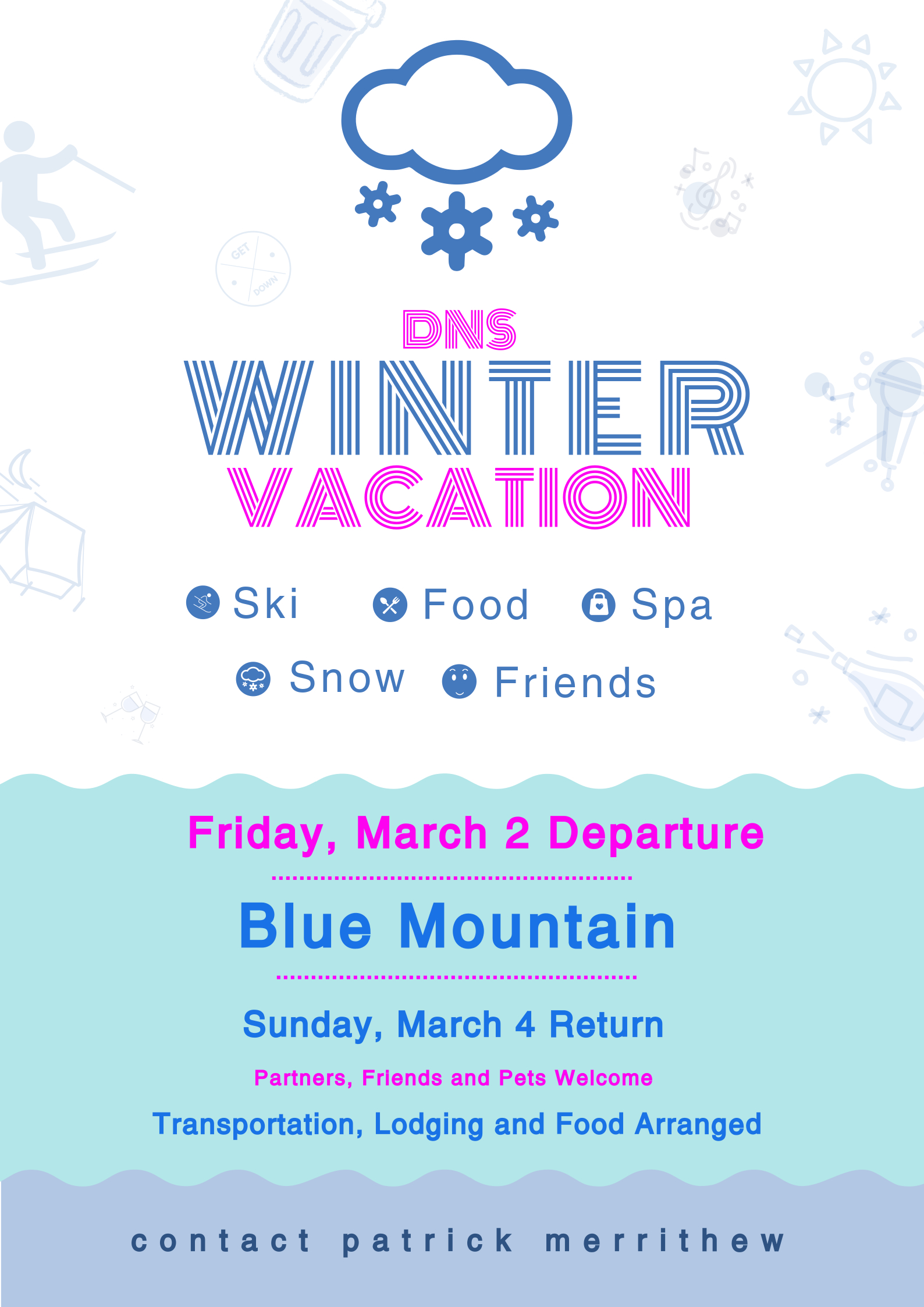Winter Vacation Poster