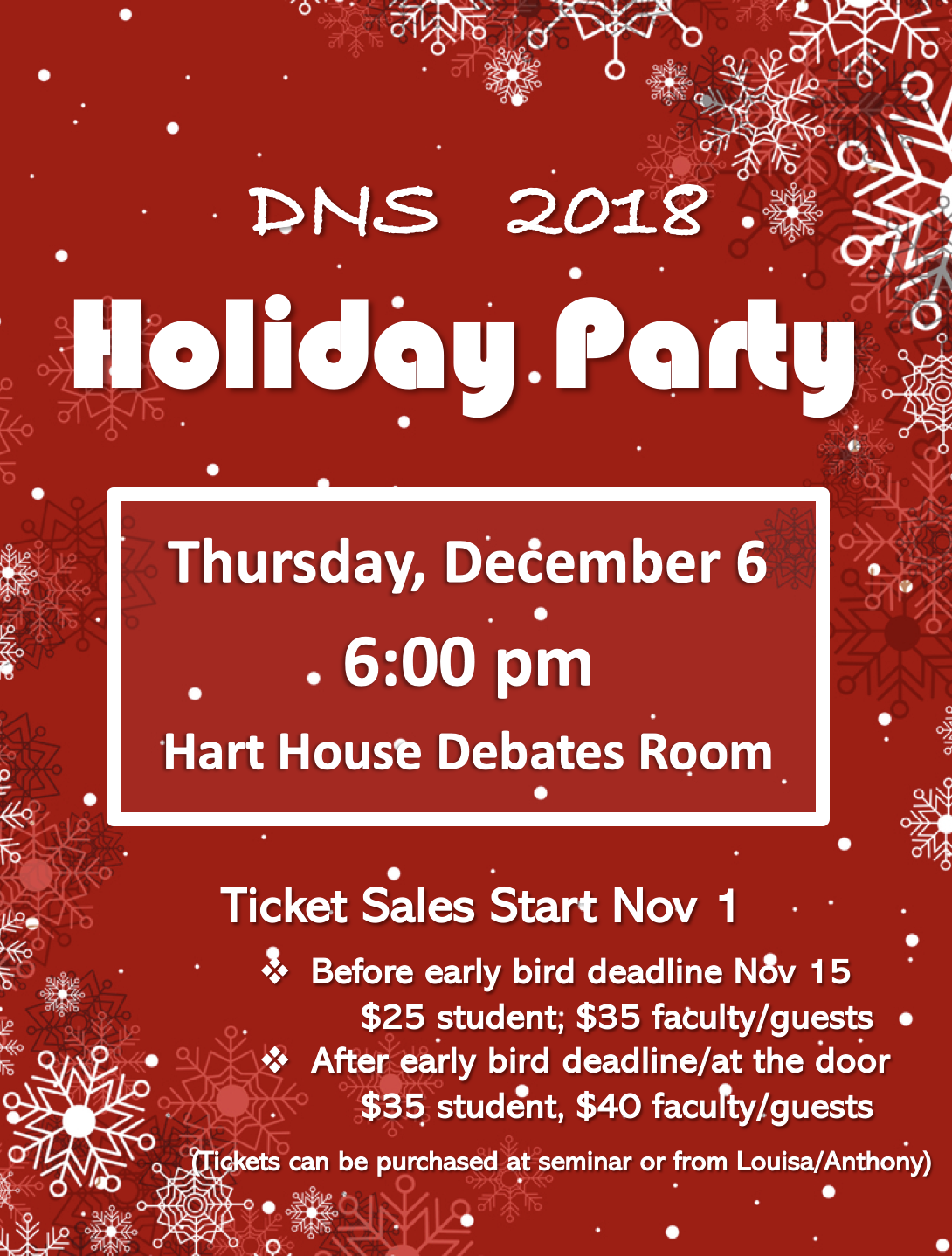 DNS Holiday Party Poster